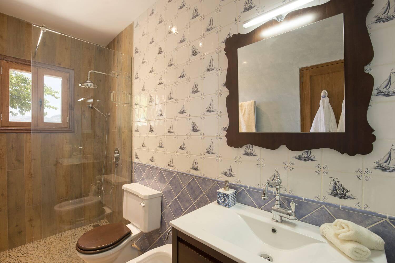 Barrierefreie Dusche, WC und Bidet